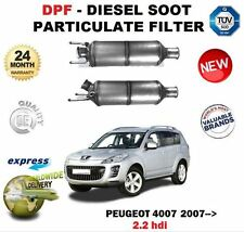 FOR PEUGEOT 4007 2.2 HDI 2007--> NEW DPF DIESEL SOOT PARTICULATE FILTER