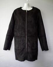 BANANA REPUBLIC NWT BLACK FAUX SHEARLING  JACKET COAT  XL