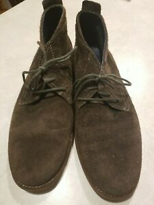 Cole Haan Hunter Green/Brown Nubuck Suede Mens Lace Chukka Ankle Boots 11.5 M