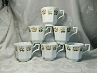 SET 6 VINTAGE JOHNSON BROTHERS IRONSTONE HERITAGE TEACUPS POSY FLOWERS FLORAL