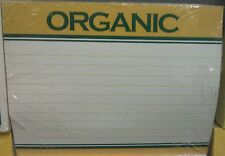 Retail Produce Price Card  Organic 7 x 5 inch  100 cards Pack