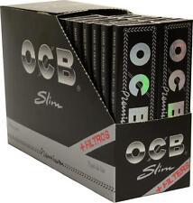 OCB 32 Premium Long Slim Schwarz + Filtertips 32 Blatt Blättchen AKTION