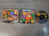 Qbert (Sony PlayStation 1, 1999) PS1 Black Label Complete CIB Puzzle Game Tested