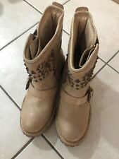 Topshop Chloe Green Studded Boots Uk 7