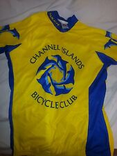 Voler Bicycle Jersey with Zipper Dolphin Design Yellow Blue Channel Islands CA