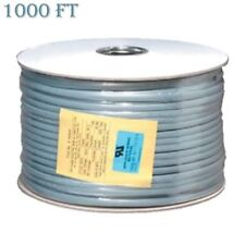 1000ft 26AWG 6 Conductor Telephone Phone Line Cable Wire Cord Stranded Silver