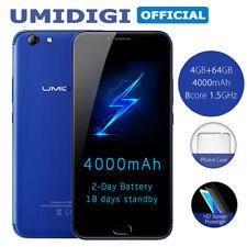 Débloqué 4G 5.5''UMIDIGI C NOTE 2 Téléphone Android 7 13Mpx 4Go+64Go Smartphone
