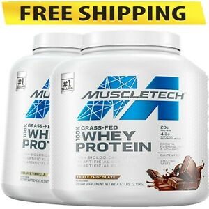 Muscle Tech Grass Fed 100% Whey Protein, Chocolate OR Vanilla