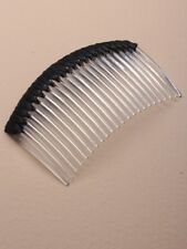 2 x black stiched curved combs for fascinator making