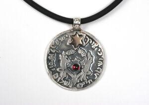Longevity Bless Pendant Biblical Necklace GOD faith Charm Ancient Hebrew Script