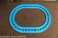 TRACKMASTER TOMY THOMAS BLUE TRACK_DOUBLE TRACK LAYOUT,RUN TRAINS SIDE BY SIDE..