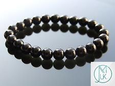 Black Onyx Natural Gemstone Bracelet 7-8'' Elasticated Healing Stone Chakra