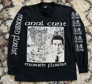 AxCx ULTRA RARE Morbid Florist Vintage Shirt Relapse Sz L Seth Putnam Grindcore