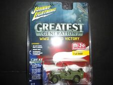 Johnny Lightning Jeep Willys Army Police WWII Allied Victory JLCP7051 1/64