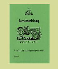 FENDT Favorit 2  FW 150  Dieselross  Betriebsanleitung Schlepper