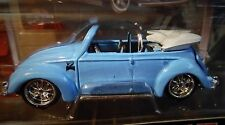 MAISTO VOLKSWAGEN VW BEETLE CABRIOLET G RIDEZ CUSTOM STYLE COLLECTIBLE CAR LT BL