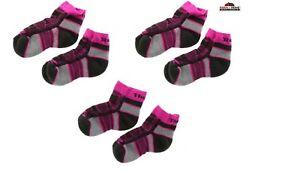 3 Pairs Thorlo Quarter Crew Socks Pink ~ New
