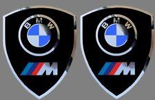 2 adhésifs sticker noir chrome BMW MOTORSPORT  (idéal ailes avant)