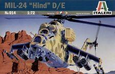 ITALERI Model Kit-MIL - 24 HIND D/E Elicottero GUNSHIP-Scala 1/72 - No.014