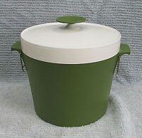 Old David Douglas Therm Ware USA Vintage Green White Plastic Ice Bucket FREE S/H