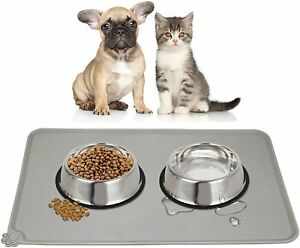 Silicone Dog Cat Food Mat Waterproof Pet Food And Water Bowl Mat For Dog or Cat
