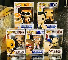 Funko Pop Randy Savage The Rock Andre The Giant Warrior John Cena Mint
