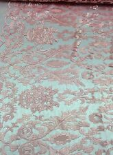 Pink Hollywood Damask 2 Way Stretch Modern Lace Fabric Sold By The Yard