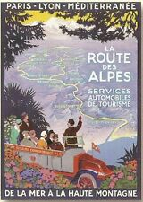 FRENCH VINTAGE POSTER 50x70cm RETRO LANDSCAPE ALPIN ROAD 1928 France