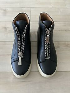 FRYE LENA ZIP LEATHER HIGH TOP WOMENS SNEAKER SHOES NWOB SIZE 8.5