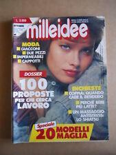 MILLEIDEE n°10 1991 - rivista di moda e lavori femminili  [G582]
