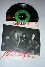 "Girlschool-Vida Silvestre Ep - 1982 Reino Unido 3-Track Vinilo 7"""
