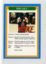 (Jm857-100) RARE,Q.O.S Who Am I ,Martin Offiah ,Rugby 1994 MINT