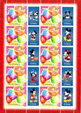 Sheet of 10 Australian Mint Mickey Mouse 50 Cent Stamps