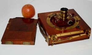 1/2 PLATE MAHOGANY CAMERA 'TRIPLE IMPERIAL' by THORNTON PICKARD BECK LENS 1 DDS