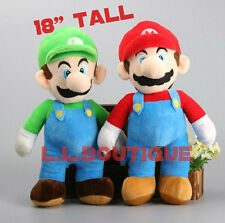 "❶❶Huge Super Mario Brothers Luigi and Mario 18"" Plush Toy Stuffed Doll USA❶❶"