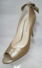 Enzo Angioloni Gold Heels with Bow Size 7.5M