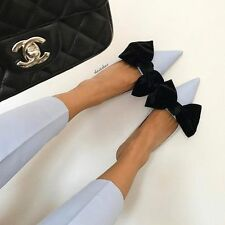 BNWT ZARA BLUE HEELED SHOES MULES WITH BOW SIZE UK 9 EUR 42