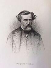Ambroise Thomas (1811-1896)  compositeur Musique gravure 1868 France