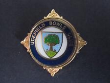 Uckfield Bowls Club metallic badge - very few exist