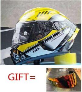 Moto Gp X14 Motorcycle Full Face DOT Fiberglass Helmet HA R1M Ant Riding Helmet