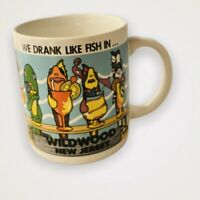 Vtg We Drank Like Fish in Wildwood NJ Jersey Shore Coffee Mug