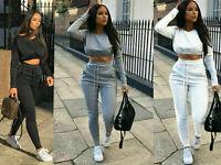 Ladies Co ord Crop Top Bottoms Set Womens 2pcs Loungewear Suit Tracksuit NEW