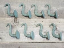 8 Cast Iron Octopus Tentacle Wall Hooks Bathroom Wall Towel Hook Nautical Coat