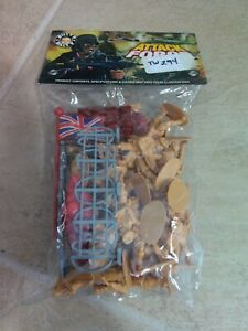 """TW294 Billy V Toy Soldiers """"Attack Force"""" army men British 8th army 54mm  WW2"""