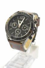 Fossil BQ7015 Modern Century Black Dial Brown Leather Strap Men's Chronograph...