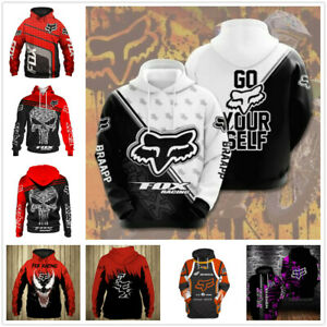 FOX Racing FOX Head Logo Moto 3D Man Hoodie Sweatshirt Hood Jumper Pullover