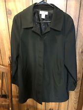 Women's PRESTON & YORK Black Petite Button Front COAT Size PL