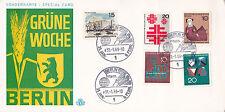 Berlino 1969, la Settimana verde cartolina FDC inutilizzati in buonissima condizione