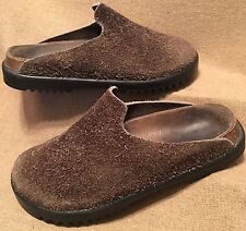 Women's Birkenstock Butula Amsterdam Leather furry Rare slip on No Strap  Sz.4.5