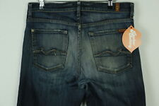 VINTAGE 7 FOR ALL MANKIND W 32 L 34 (RELAXED DISTRESSED) BUTTON FLY DENIM P5
